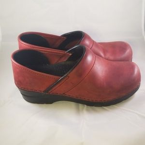 Dansko Red Clogs Size 38